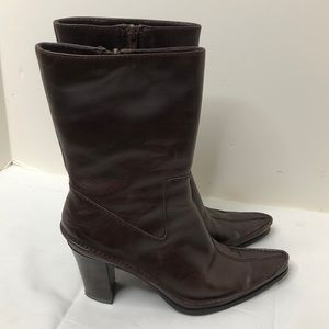 "3/$15 Amanda Smith size 6.5 leather boots 3"" heel"
